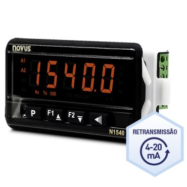 Imagem do produto N1540 RT – Indicador universal de processos 12 a 24VCC - Alexmar - Automação Industrial