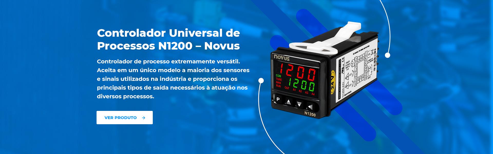 Imagem do slide Controlador Universal de Processos N1200 – Novus - Alexmar - Automação Industrial
